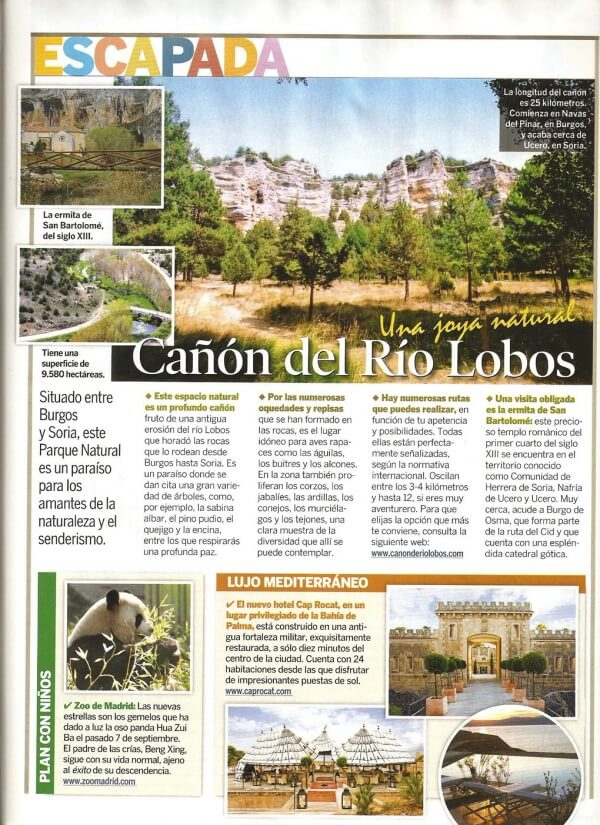 Cañón del Río Lobos, revista Semana