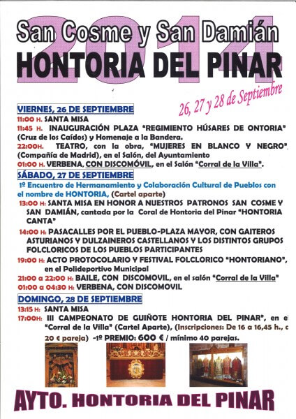 San Cosme y San Damián 2014 - Hontoria del pinar