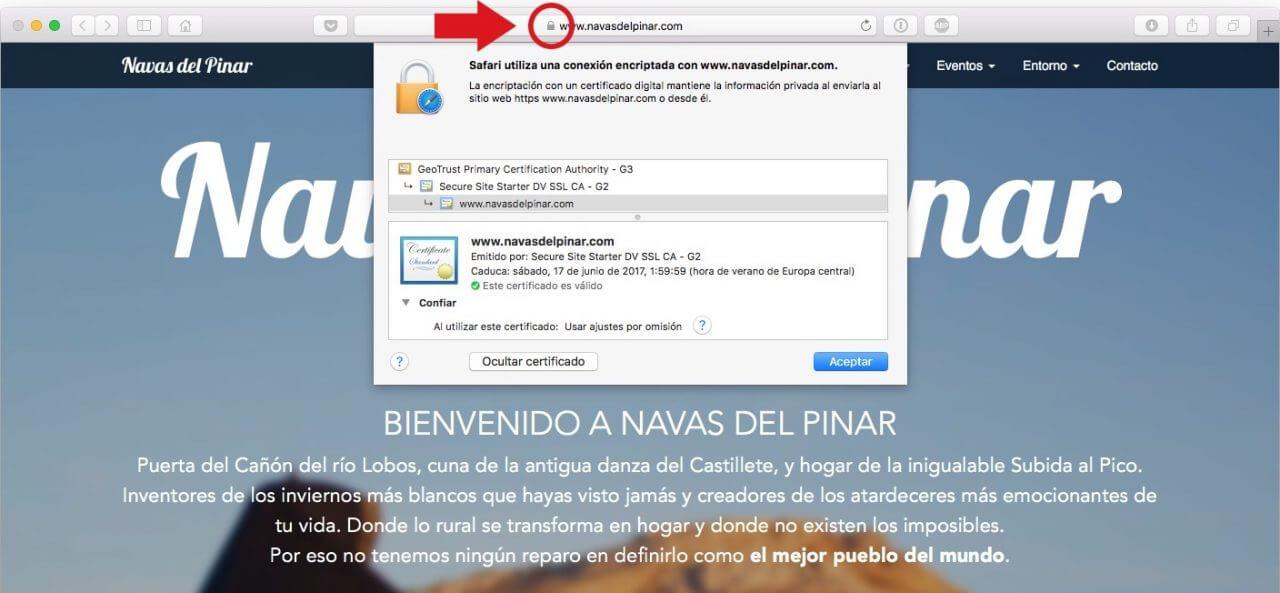 Navas del Pinar SSL